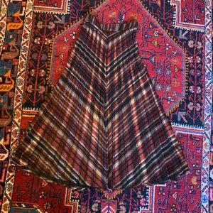 ZARA Metallic Pleated Skirt